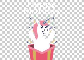 礼物独角兽惊喜,独角兽在礼品盒PNG剪贴画礼品盒,虚构人物,卡通,
