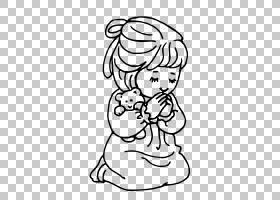 祈祷之手祈祷孩子,祈祷的PNG剪贴画白色,脸,手,脊椎动物,单色,男