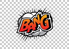 漫画平面设计漫画书,爆炸PNG剪贴画杂项,文本,橙色,徽标,其他,电