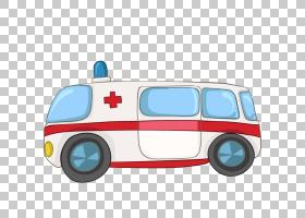 漫画摄影,救护车PNG剪贴画手,汽车,运输方式,救护车,交叉,卡通,免