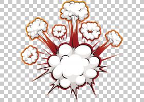漫画爆炸语音气球,炸弹爆炸效果,云PNG剪贴画白,效果,漫画书,云,