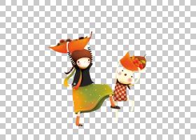 秋收,橙色卡通儿童装饰图案PNG剪贴画孩子,人民,海报,装饰,几何图