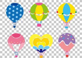 热气球,彩色卡通热气球元素PNG剪贴画卡通人物,cdr,颜色飞溅,摄影