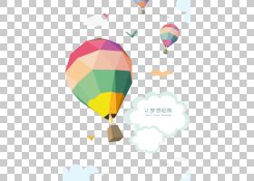 热气球海报,让梦想启航天空热气球背景材料PNG剪贴画气球,卡通,封