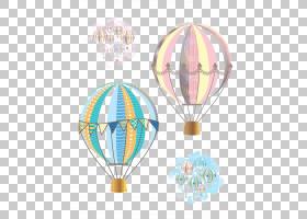 热气球飞行飞机,卡通热气球,粉红色和蓝色热气球PNG剪贴画卡通人