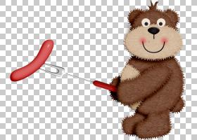 热狗烤火腿熊,熊烤火腿PNG剪贴画动物,烘烤,卡通,动物,户外娱乐,