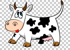 牛奶卡通农场,卡通牛PNG剪贴画卡通人物,食品,动物,漫画,鼻子,卡