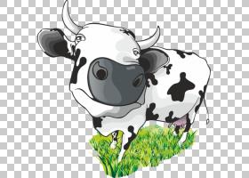 牛奶牛卡通,卡通牛PNG剪贴画卡通人物,食品,画,动物,公司,手,狗像