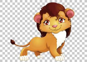 狮子卡通版税,彩绘狮子PNG剪贴画水彩画,棕色,哺乳动物,动物,猫像