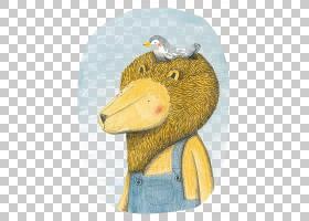 狮子和鸟Le狮子和loiseau,卡通狮子PNG剪贴画卡通人物,儿童,动物,