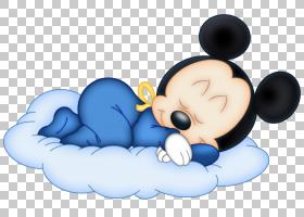 米老鼠米妮,小老鼠,米老鼠睡在云图标PNG剪贴画儿童,剪贴画,电脑