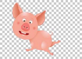 猪动物动物名称和声音了解婴儿的元音动物游戏的孩子,猪PNG剪贴画