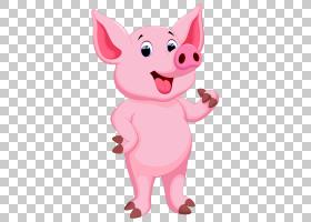 猪画,粉红猪PNG剪贴画哺乳动物,动物,简单,摄影,狗像哺乳动物,脊