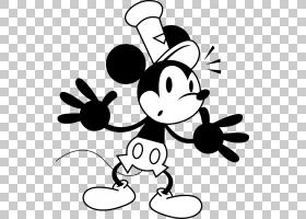 米老鼠黑色和白色,老人谁跌倒和流血PNG剪贴画白色,英雄,叶,单色,