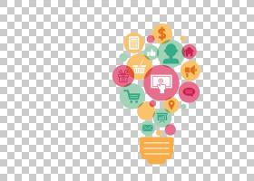 数字营销营销策略商业广告,营销灯泡元素PNG剪贴画公司,内容营销,