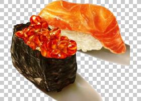 寿司日本料理海鲜Bento,寿司PNG剪贴画水彩画,食品,食谱,生鱼片,