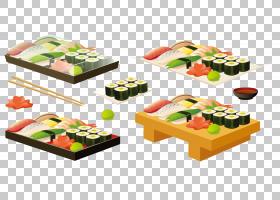 寿司日本料理生鱼片海鲜,美味寿司设置PNG剪贴画食品,吃,餐饮,卡