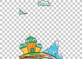 新疆Naan海报,蜡笔建筑云雪山PNG剪贴画水彩画,叶,建筑,云,脊椎动