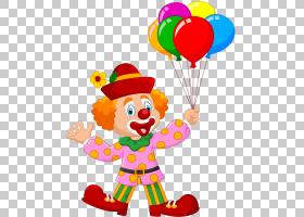 小丑马戏团卡通,卡通小丑PNG剪贴画卡通人物,食品,心,气球,颜色,