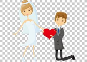 新郎婚礼,卡通情侣PNG剪贴画爱,卡通人物,孩子,手,心,人民,友谊,