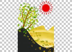 日出日落欧几里得,日出PNG剪贴画叶,文本,科,景观,计算机壁纸,草,