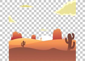 日出沙漠欧几里得,在沙漠PNG clipart的日出文本,橙色,计算机壁纸