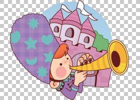 小号,小号PNG剪贴画紫色,食品,铜管乐器,卡通,虚构人物,城堡,法国