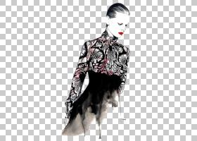 时尚绘图插画,优雅的女孩模型PNG剪贴画名人,画,时尚女孩,手,时尚