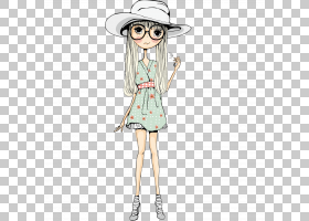 时尚绘画,截图帽子女孩PNG剪贴画儿童,帽子,帽子矢量,时尚女孩,摄