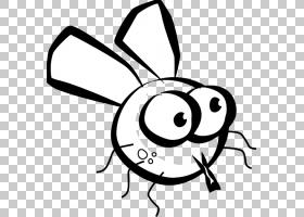 昆虫绘图飞黑色和白色,卡通s苍蝇PNG剪贴画白色,单色,royaltyfree