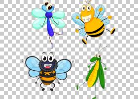 昆虫蝴蝶蜜蜂卡通,昆虫PNG剪贴画蜜蜂,动物,昆虫,蚂蚁,虚构人物,