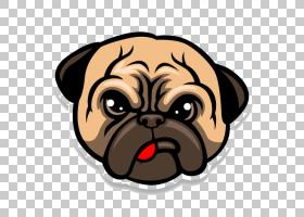 帕格斗牛犬小狗卡通,帕格生活PNG剪贴画哺乳动物,食肉动物,玩具狗