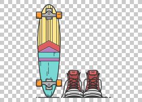 平面设计,滑板PNG剪贴画运动,运动器材,卡通,体育,材料,鞋,滑板破