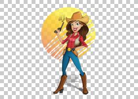 杰西牛仔女人顶部卡通,女牛仔PNG剪贴画虚构人物,免版税,神话中的