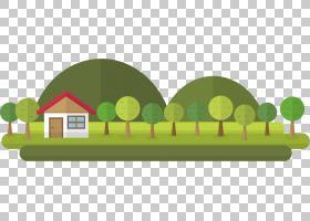 树,平森林PNG剪贴画公寓,自然,草,卡通,森林,森林,森林动物,房子,