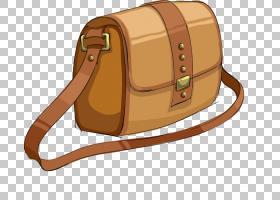 手提包高跟鞋,卡通斜挎包PNG剪贴画卡通人物,棕色,背包,皮革,配件