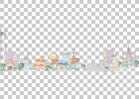 手绘城市PNG剪贴画水彩画,灯,城市,手绘,天际线,卡通,封装的PostS