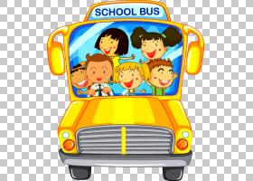 校车公交车司机,卡通校车PNG剪贴画卡通人物,孩子,蹒跚学步,免版