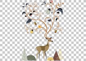 梅花鹿Pxe8re戴维斯鹿Chital,花鹿PNG剪贴画鹿茸,哺乳动物,叶,动