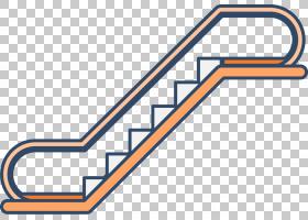 楼梯自动扶梯电梯,橙色自动扶梯PNG剪贴画角度,电子产品,文本,橙