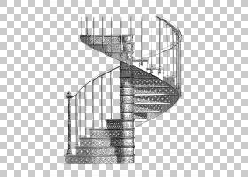 楼梯铸铁绘图Csigalxe9pcsu0151,铅笔素描旋转楼梯手稿PNG剪贴画