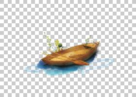 模板,卡通油画小木船PNG剪贴画水彩画,卡通人物,海报,油画,木头,