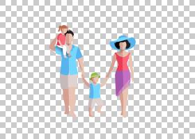 欧几里德家庭,卡通家庭平材料PNG剪贴画卡通人物,海滩,孩子,手,人