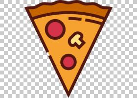 披萨意大利菜垃圾食品快餐图标,披萨PNG剪贴画食品,橙色,心脏,快