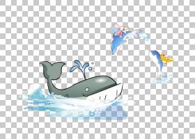 抹香鲸蓝鲸,卡通鲸鱼海豚PNG剪贴画卡通人物,蓝色,海洋哺乳动物,