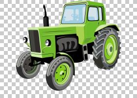 拖拉机农业卡通约翰迪尔,绿色拖拉机PNG剪贴画收获,贴纸,绿色苹果