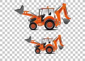 拖拉机重型设备建筑工程,卡通挖掘机PNG剪贴画卡通人物,卡通武器,