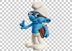 毛绒玩具小雕像毛绒,聪明的蓝精灵,聪明的蓝精灵图形PNG剪贴画卡