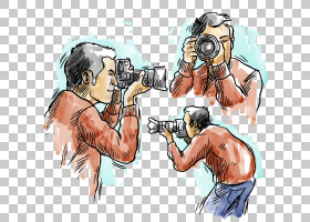 摄影师,手,画男性摄影师PNG剪贴画水彩绘画,手绘,卡通,虚构人物,
