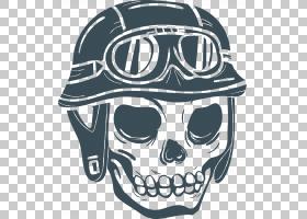 摩托车头盔Calavera Skull自行车头盔,手,彩绘卡通骨架PNG剪贴画